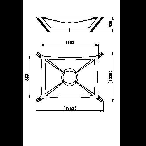 Masse in Millimeter Hundebett Doxx Lounge XL